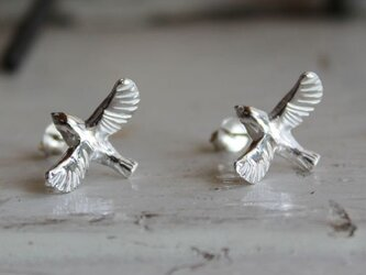 sv925 羽ばたく小鳥のピアスの画像
