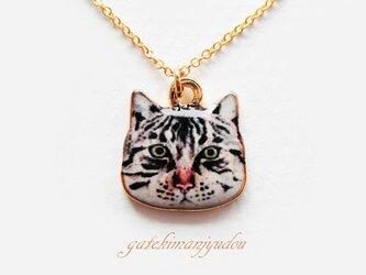 サバトラ猫のネックレスの画像