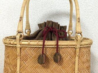 マス網代編みバッグの画像