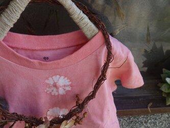 草木染めTシャツ~akane-iro~90の画像