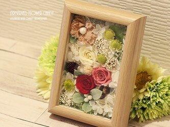 【送料無料】プリザ のお花畑フレーム キャンディ ♪の画像
