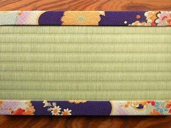 ちりめんミニ畳~紫縁~の画像