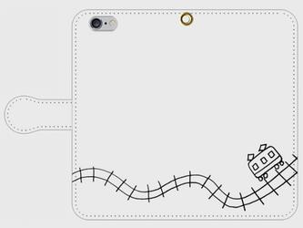 【送料無料】iPhone6/6s手帳型スマホケース でんしゃの画像