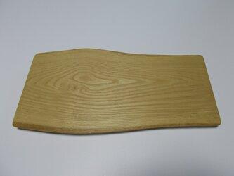 栗の木の板皿の画像