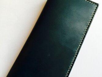 小銭入れの無い革の長財布 N label(刻印無料)の画像