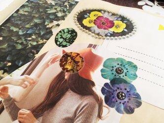 透明シール花と宝石2シートセットの画像