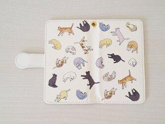 猫いっぱいスマホケース/手帳型の画像