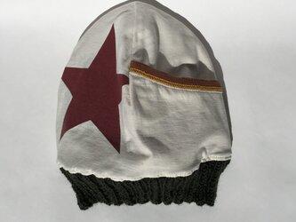 大きくきらめく星のニット帽(リバーシブル)の画像