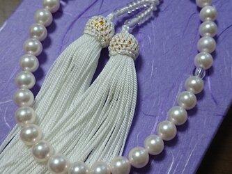 あこや本真珠 数珠の画像