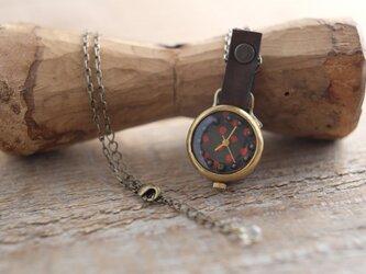 首からさげる時計 r-dot brown n N008の画像