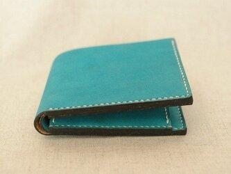 二つ折り財布《peacock green》の画像