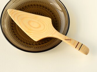 【木製】ひのきのケーキサーバー:コンパクトサイズの画像