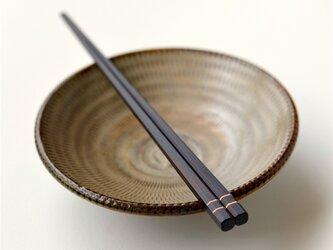 【木製】カチッとしたメンズ箸:縞黒檀の画像