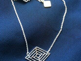 <Mosaic> ブレスレット - Metal Rhombus - シルバーの画像