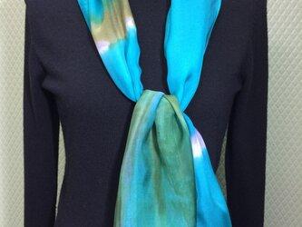 シルクシフォンのマフラースカーフの画像