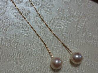 あこや本真珠 K18 アメリカンピアスの画像