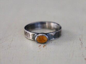 古代スタイル 天然イエローサファイア*指輪* 10号の画像