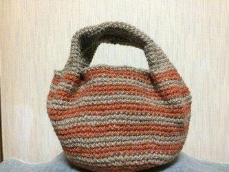 Baul麻ひもコロリンバック(ボーダーオレンジ)の画像