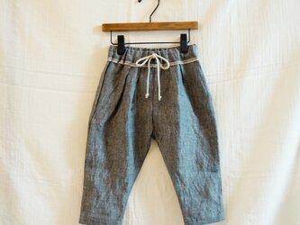 《ベビー》リネン フリンジタックパンツ  ネイビーブルー 80サイズの画像