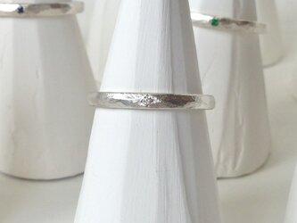 4月誕生石 K18WG Stone texture ringの画像