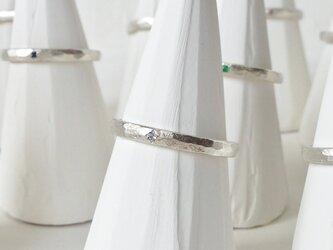 12月誕生石 K18WG Stone texture ringの画像