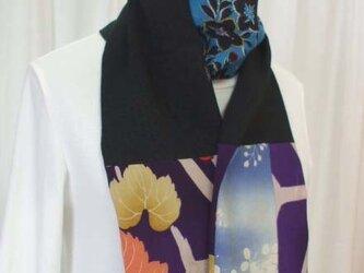 古布ストール 着物リメイクの画像