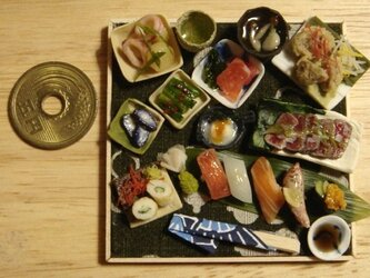 ★まぐろステーキ&握り寿司の画像