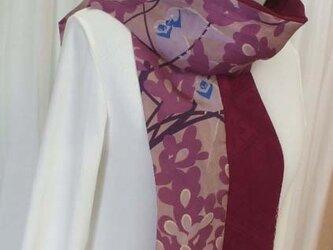 アンティーク着物からストールの画像