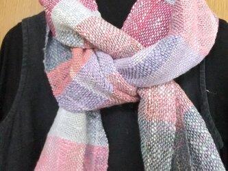 麻と木綿の手織りロングマフラー#3の画像