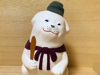 干支の置物。犬の置物、雪丸、聖徳太子の愛犬。の画像
