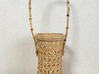 花籠(口部分二心編みかご)の画像