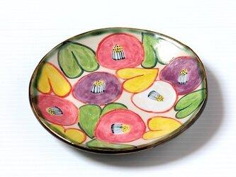 椿紋様の絵替わり皿2の画像