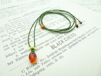 ベネチア産ガラスビーズのネックレス N69の画像