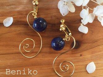 Beniko 宇宙と蔦のピアスイヤリングの画像