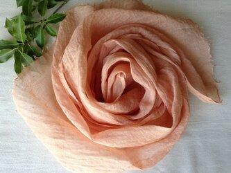 再出品:【そよご染め】リネンストール(A)⑩ 桜紅色の画像