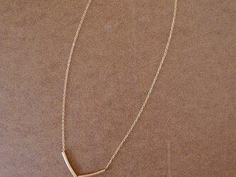 淡水パールとゴールドフィルドのネックレスの画像