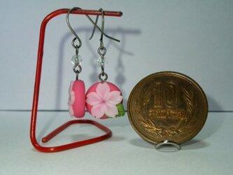 桜のピアス(赤)の画像
