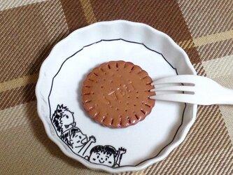 お皿アート【食いしん坊】の画像