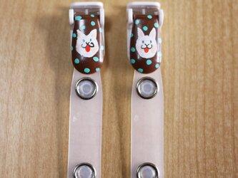 手描きバンドクリップ2個セットA ⭐︎移動ポケットなどにの画像