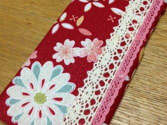 布製iPhoneケース【かわいい、綺麗】和風、花柄&レース、桜【iPhone6/6s用】の画像