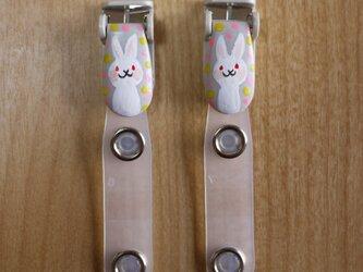 手描きバンドクリップ2個セットK⭐︎移動ポケットなどにの画像