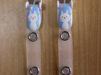 手描きバンドクリップ2個セットU⭐︎移動ポケットなどにの画像