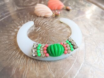 ヴィンテージ バングル ブレスレット vintage bangle bracelet <LC-WHGR>の画像