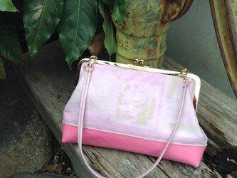 がま口バッグ ピンクの画像