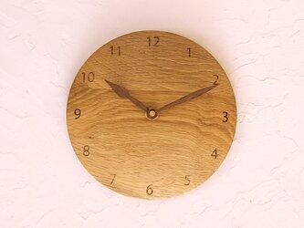 掛け時計 丸 楢材⑧の画像