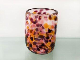 彩グラス(オレンジと紫)の画像