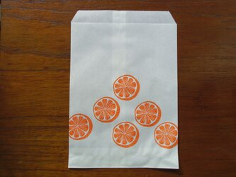 ペーパーバッグ(6枚入)オレンジの画像
