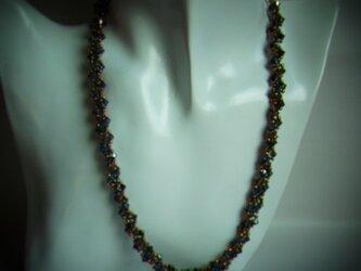 スワロ・編み込みネックレスの画像