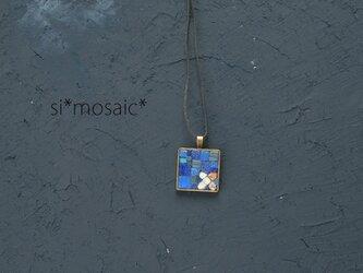 ガラスモザイクネックレス cruz5(cinco)の画像