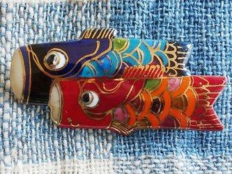 七宝焼ブローチ 鯉のぼり(大)の画像